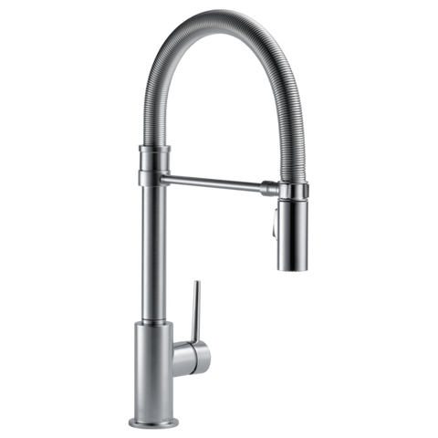 Delta Trinsic Pro Single Handle Pull-Down Kitchen Faucet with Spring Spout 9659-AR-DST Arctic Stainless