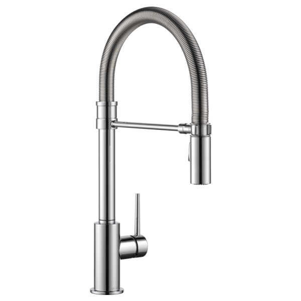 Delta Trinsic Pro Single Handle Pull-Down Kitchen Faucet with Spring Spout 9659-DST Chrome