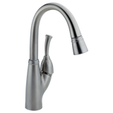 Delta Allora Single Handle Pull-Down Bar/ Prep Faucet 999-AR-DST Arctic Stainless