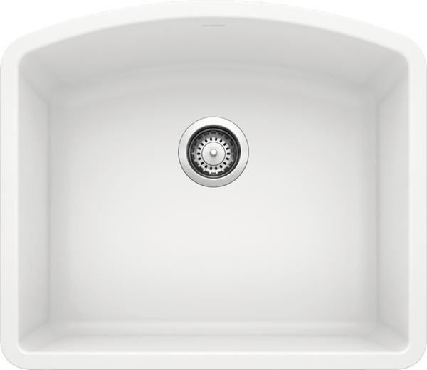 Blanco Silgranit Diamond - Undermount Kitchen Sink, Single Bowl - White / 440175