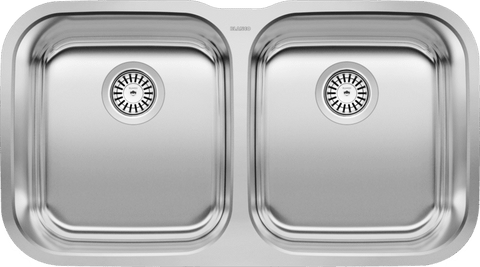 Blanco Stellar Double Bowl Stainless Steel Undermount Kitchen Sink - 441020