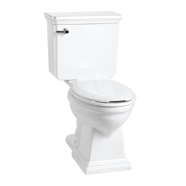 Mansfield Brentwood 1.28 gallons per flush comfort height toilet against white background