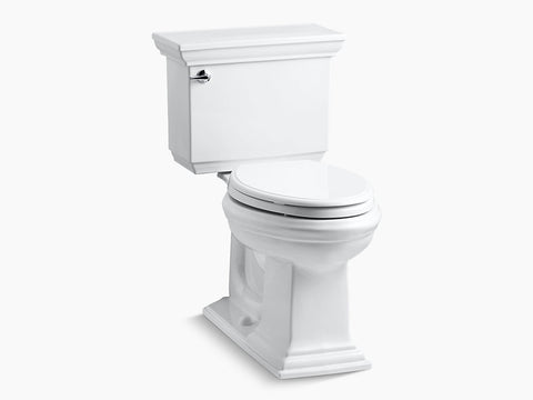 Kohler Memoirs Stately Two Piece Toilet Elongated Bowl K-3817-0 White