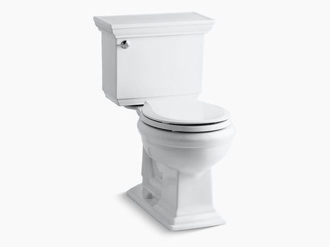 Kohler Memoirs Stately Two Piece Toilet Round Bowl K-3933-0 White