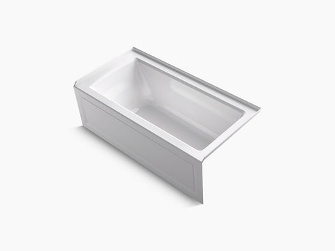Kohler Archer 60 inch x 30 inch Alcove Tub with Integral Apron and Tile Flange Right Drain K-1946-RA-0 White