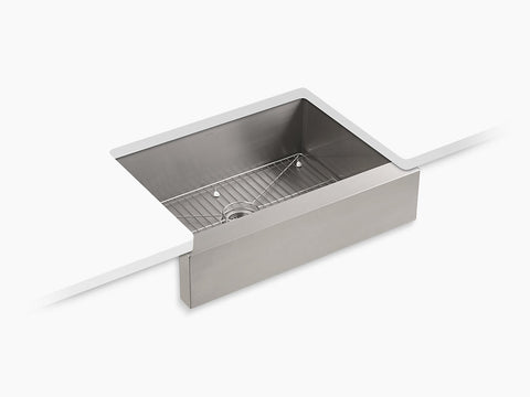 Kohler Vault 30 inch Single Bowl Stainless Steel Undermount Apron Front Kitchen Sink K-3936-NA