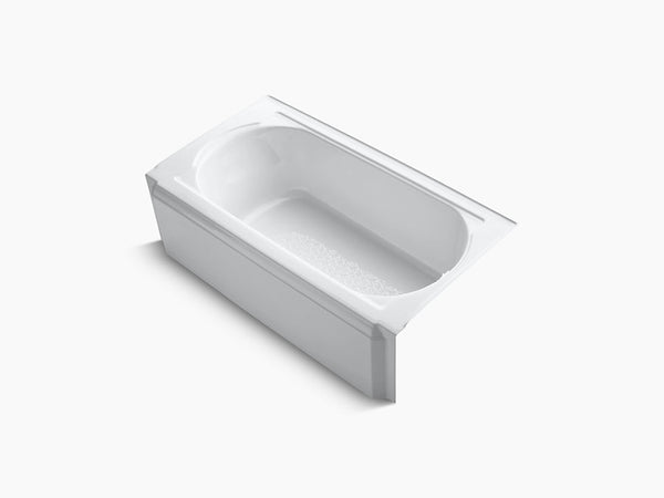 Kohler Memoirs 60 inch x 32 inch Cast Iron Tub with Integral Apron and Tiling Flange Right Drain K-722-0 White