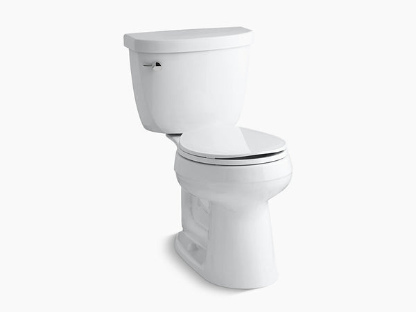 Kohler Cimarron Two Piece Toilet Round Bowl K-3887-0 White