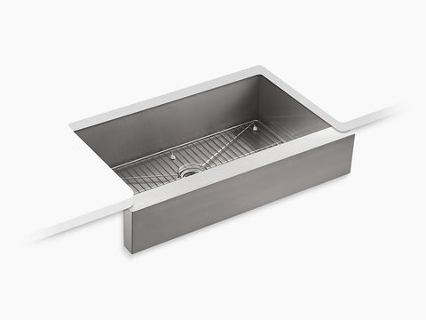 Kohler Vault 36 inch Single Bowl Stainless Steel Undermount Apron Front Kitchen Sink K-3943-NA