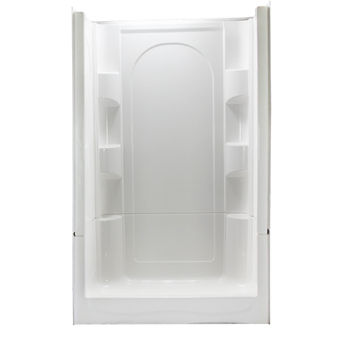 Clarion 4S30C 4 piece remodeling shower front view
