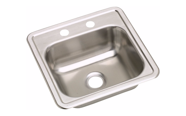 Dayton 15 inch x 15 inch Drop-In Stainless Steel Bar Sink - D115162