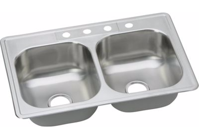 Dayton Double Bowl Drop-In Stainless Steel Sink SE233224-8
