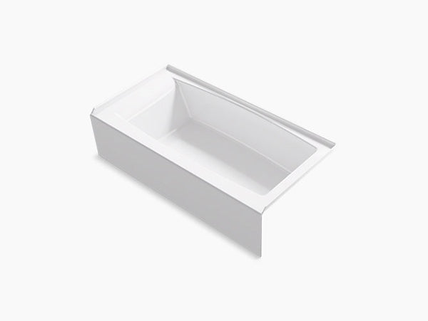 "Kohler Entity 60""x30"" Acrylic Bathtub with Integral Apron and Tile Flange - Right Drain /  K-26109-RA-0"