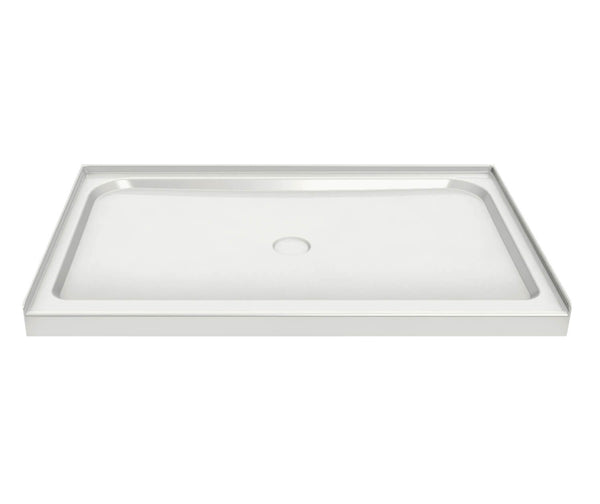 "Maax 105664-000-001 60""x36"" white acrylic shower base with 3""high threshold"