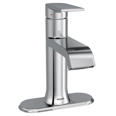 Moen Genta Model 6702 with deck plate against white background