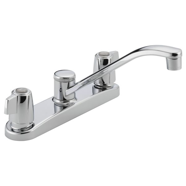 Peerless Two-Handle Kitchen Faucet without Side Spray P221LF Chrome