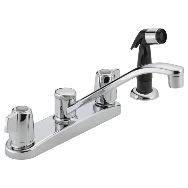 Peerless Two-Handle Kitchen Faucet with Side Spray P226LF Chrome