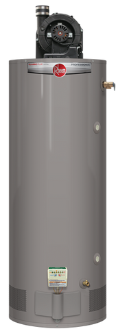 Rheem 75 gallon natural gas power vent heavy duty hot water heater