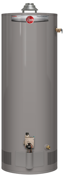Rheem 40 gallon natural gas short hot water heater