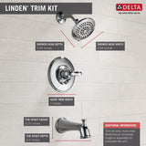 Delta Linden Monitor 14 Series Tub and Shower Trim - T14494