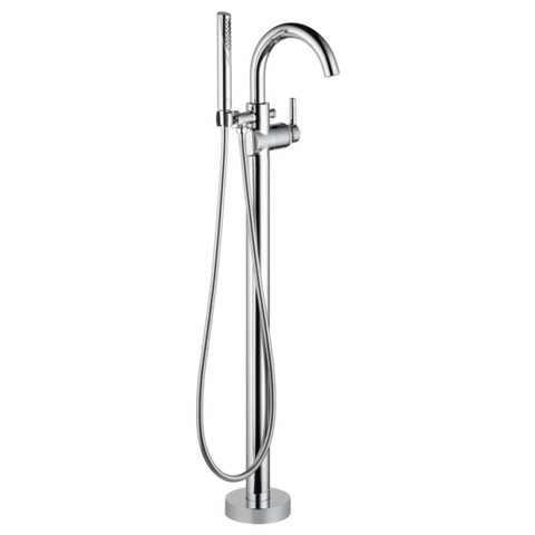 Delta Contemporary Floor-Mount Tub Filler Trim with Hand Shower T4759-FL Chrome