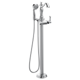Delta Cassidy Floor-Mount Tub Filler Trim with Hand Shower Less Handle T4797-FL-LHP Chrome
