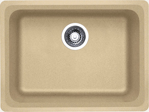 Blanco Silgranit Vision - Undermount Kitchen Sink, Single Bowl Biscotti 441368