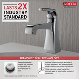 Delta Ashlyn Single Handle Lavatory Faucet - Metal Pop-up - 564