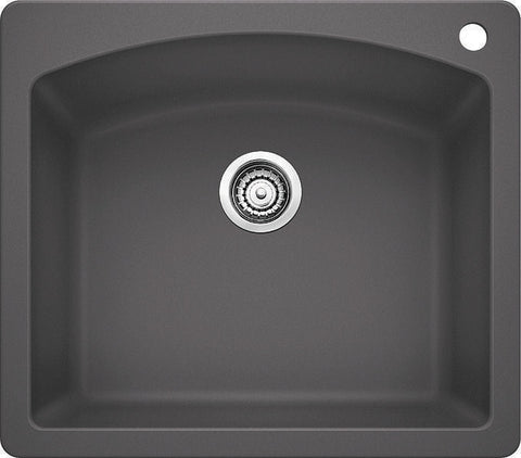 Blanco Silgranit Diamond - Dual Deck Single Bowl Kitchen Sink Cinder 441463