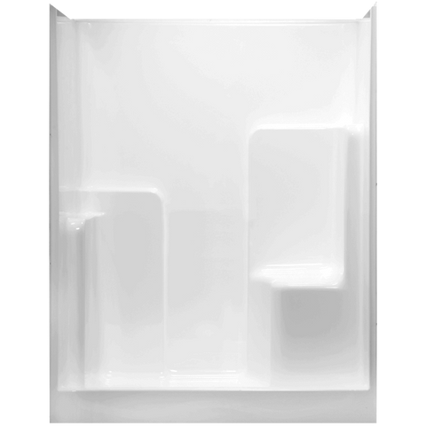 "Clarion Fiberglass 60"" Shower - Left Seat - RE5836R/S"
