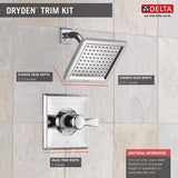 Delta Dryden Monitor 14 Series Shower Trim - T14251