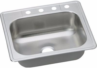 Dayton Single Bowl Drop-In Stainless Steel Sink DSE125224-8
