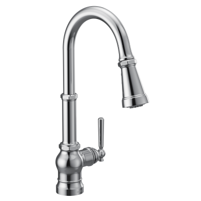 Moen Paterson S72003 pull-down kitchen faucet in polished chrome