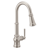 Moen Paterson S72003SRS pull-down kitchen faucet in spot resistant stainless