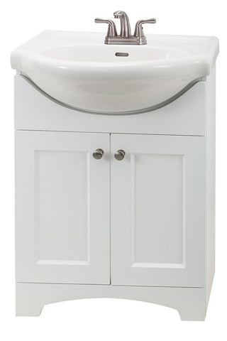 OakCetera White Euro Vanity Top Combination SW2412-2C-M1