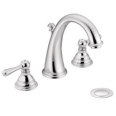 Moen Kingsley Two-Handle Widespread High Arc Lavatory Faucet T6125 Chrome