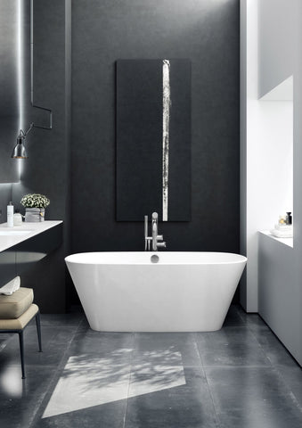 Victoria and albert vetralla 2 soaking tub in a modern bathroom