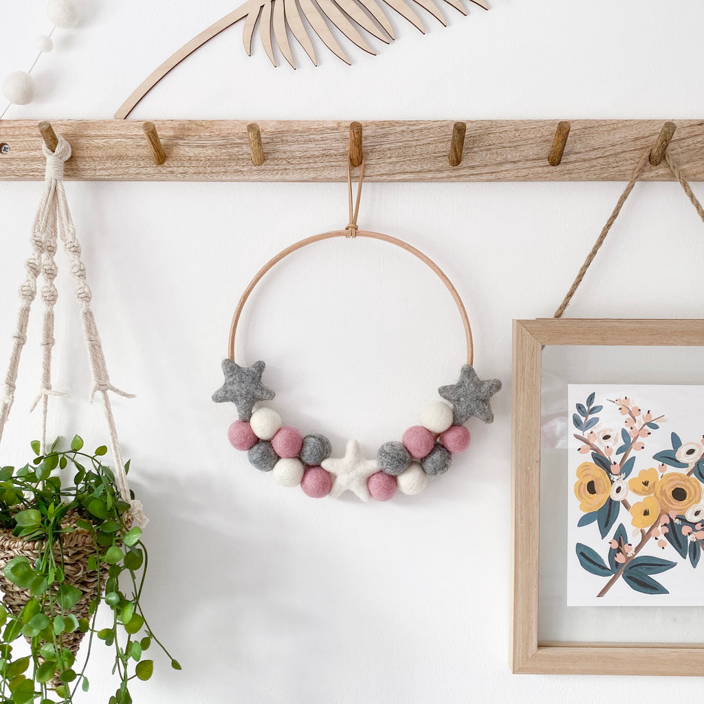 Felt Ball Wreaths