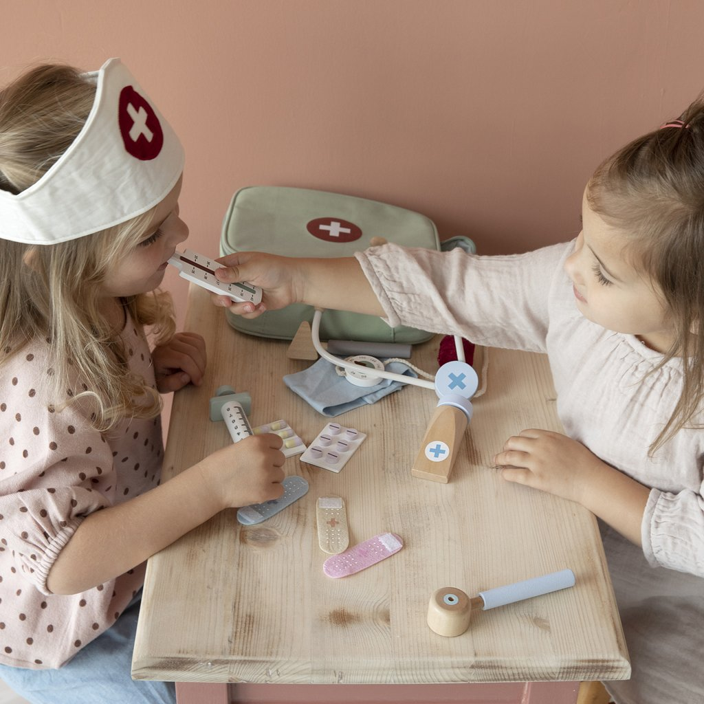 Wooden Doctor Play Set By Little Dutch