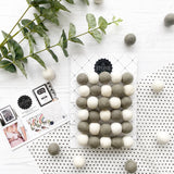 Felt Ball Pom Pom Dove Grey and White By Stone and Co