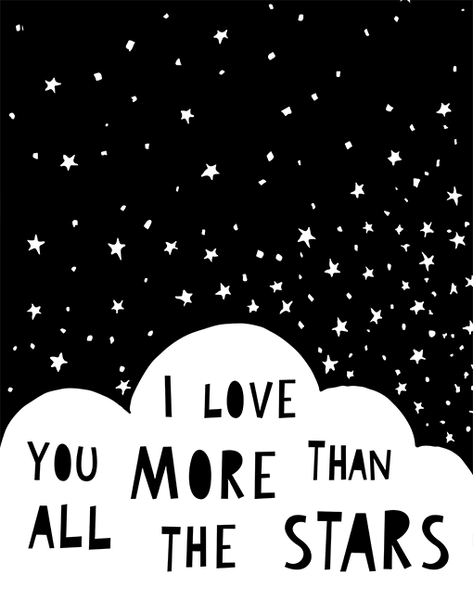 I Love You More Than All The Stars A4 Print By Mini Learners - stoneandco