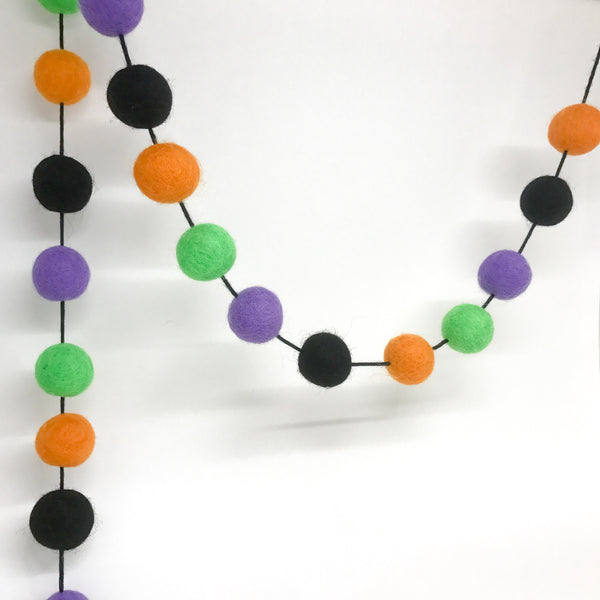 Stone and Co Felt Ball Halloween Pom Pom Garland - Limited Edition Witches Brew - stoneandcoshop