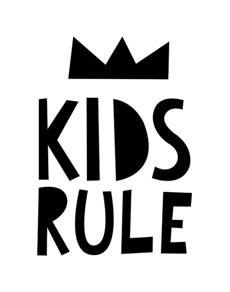 Kids Rule - A4 Print By Mini Learners - stoneandco