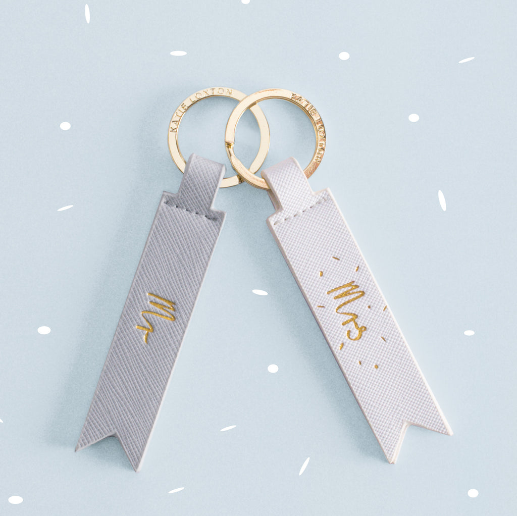 Katie Loxton Mr Keyring In Grey - stoneandcoshop