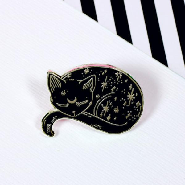 Mystical Cat Enamel Pin by Punky Pins - stoneandcoshop