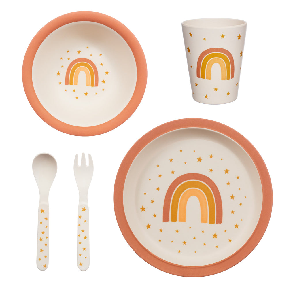 Earth Rainbow Bamboo Kids Dinner Set