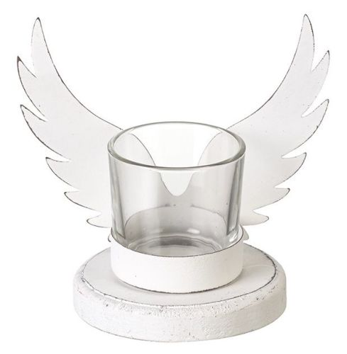 Set of Two Angel Wing Mini Tea Light Holders - stoneandco