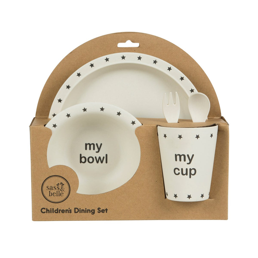 Bowls & Plates Cups, Dishes & Utensils Bamboo Children's Set