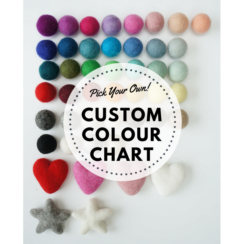 Stone and Co Custom Felt Ball Pom Garland - stoneandcoshop