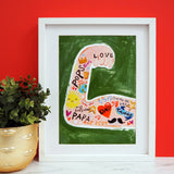 Dad Strong Arm A4 print by Eleanor Bowmer - stoneandcoshop